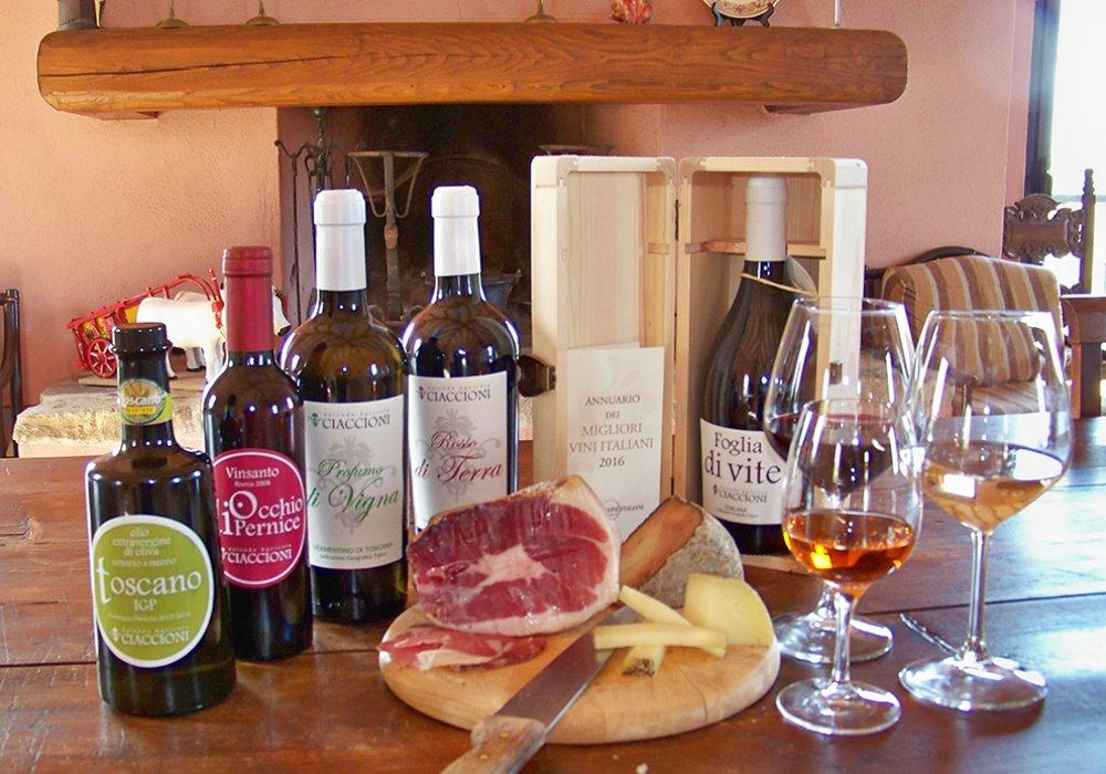 DEGUSTAZIONE FOGLIA DI VITE E CINTA SENESE Il Miglior Vino Rosso d'Italia 2016 con prosciutto di cinta senese